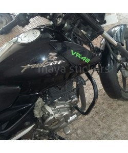 Valentino Rossi vr46 sticker on Bajaj Pulsar 150