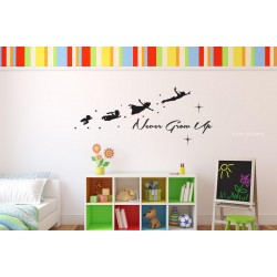 Peter pan - Never Grow up Wall decal for kid's room