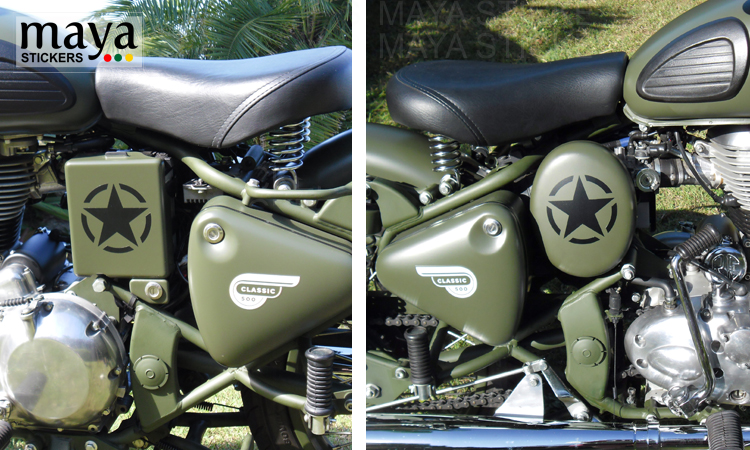 Royal Enfield Classic 350 Sticker modification Gallery